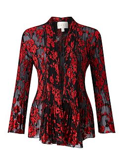 Poppy Devore Pleat Jacket