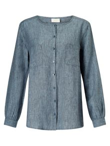East Linen Pocket Detail Shirt