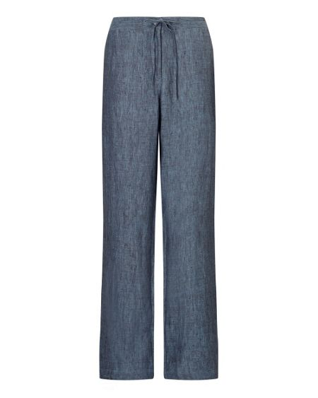 East Linen X Dye Wide Leg Trousers