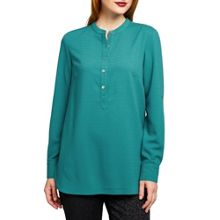 East Crepe Round Neck Shirt