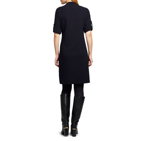 East Crepe Pintuck Dress