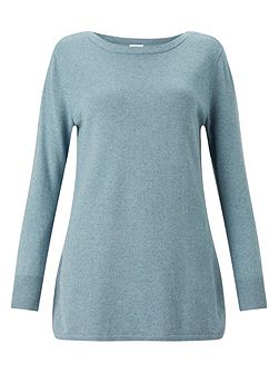 Sparkle Curved Hem Jumper