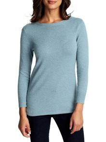 East Sparkle Curved Hem Jumper