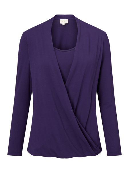 East Drape Front Jersey Top