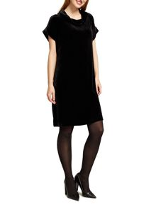 East Silk Velvet Bardot Dress