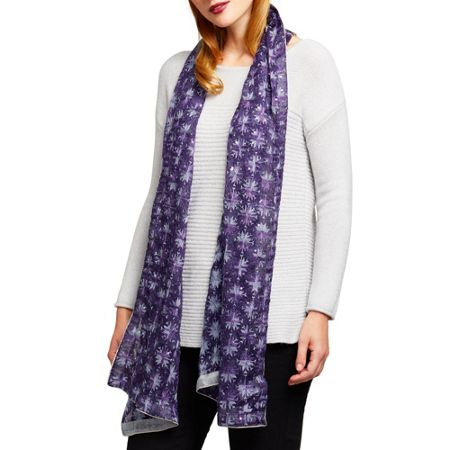 East Embroidered Sequin Scarf