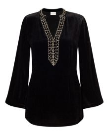 East Velvet Beaded Kurta