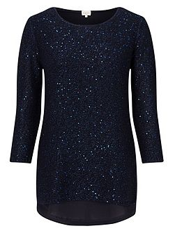 Sequin Combination Jumper