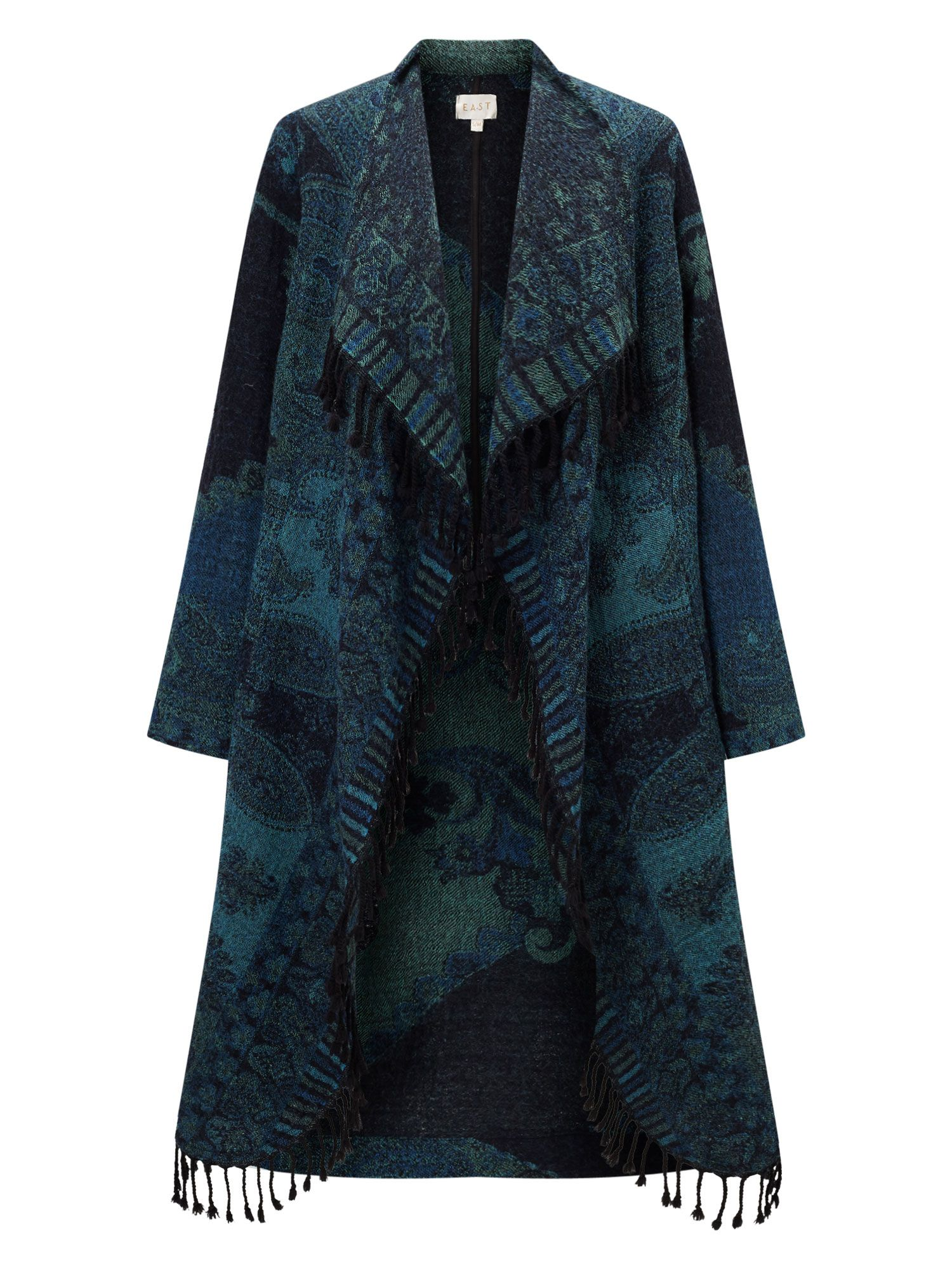 East Waterfall Blanket Coat, Blue