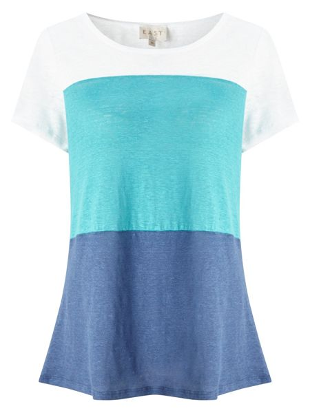 East Short Sleeve Colourblock Top