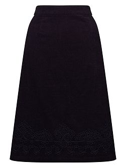Applique Cord Skirt