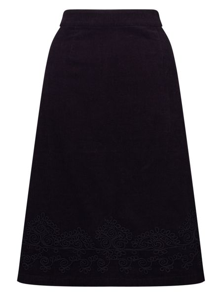 East Applique Cord Skirt