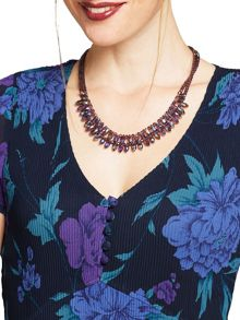 East Pear Faceted Necklace