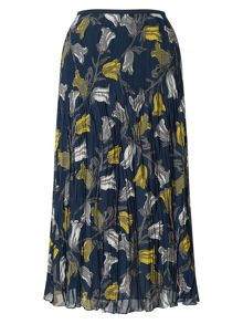 East Tulip Print Pleat Skirt