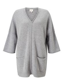 East V Neck Tabbard Sweater