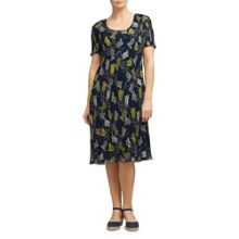 East Tulip Print Pleated Dress