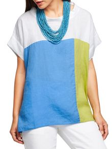 East Colourblock Bardot Top