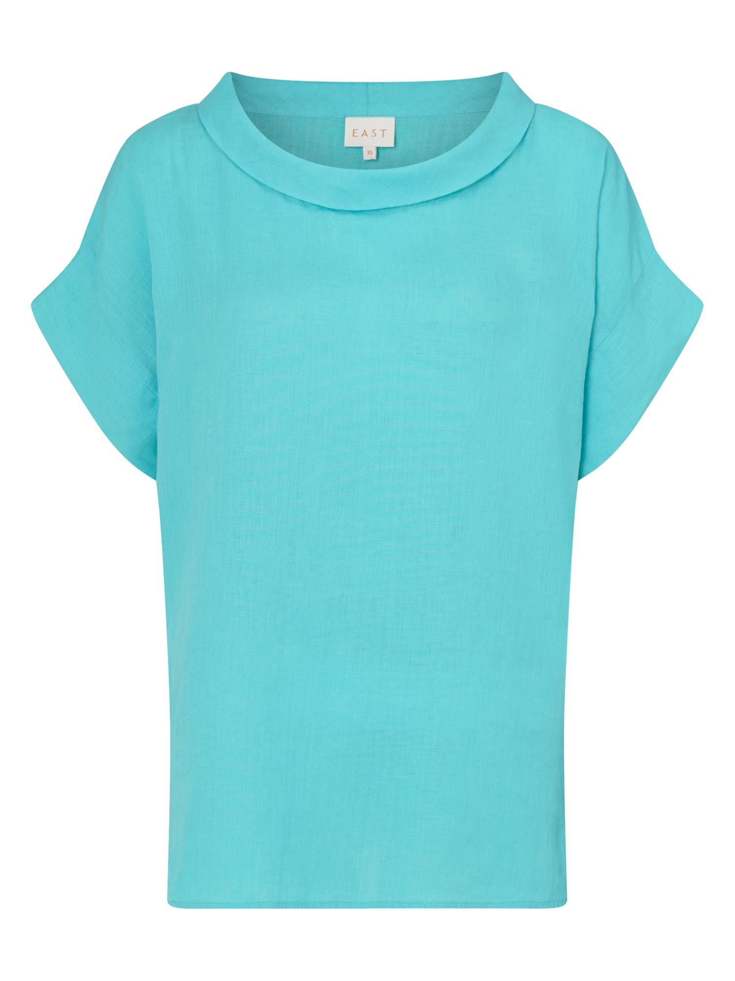 East Bardot Neck Top, Blue
