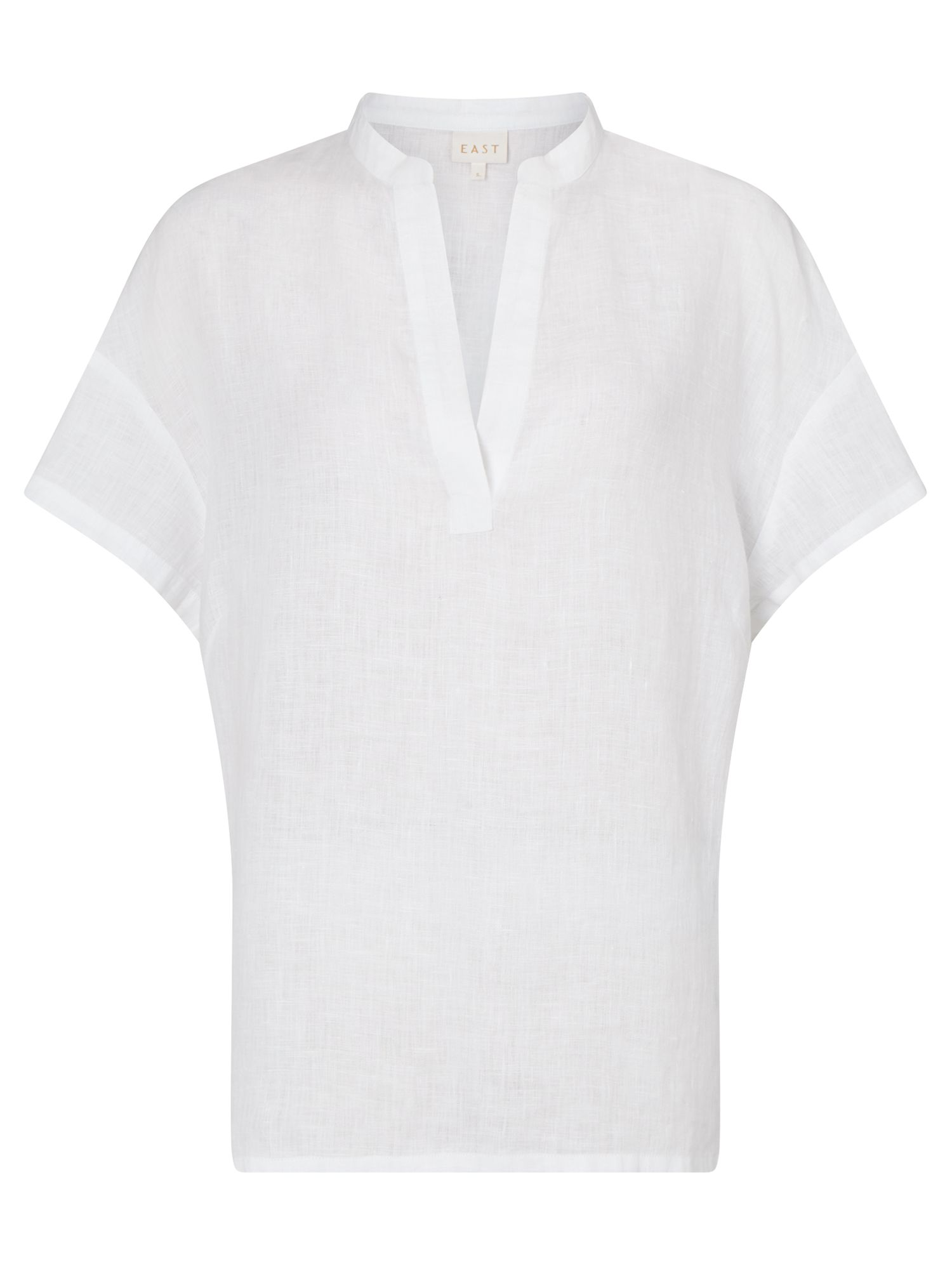 East Linen Marilyn Top, White