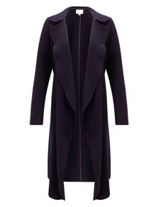 East Boiled Wool Waterfall Coat