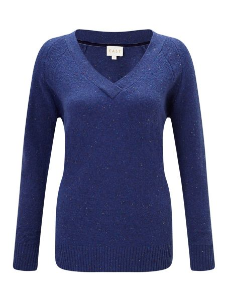 East Fleck V Neck Jumper