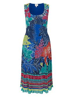 Carina Print Pleat Dress