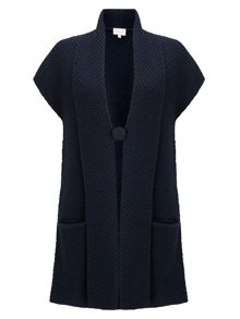 East Textured Knit Waistcoat