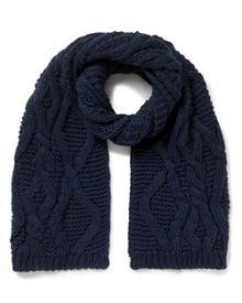 East Chunky Knitted Scarf