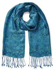 East Silk Tassel Border Scarf