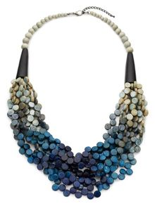 East Ombre Wood Disc Layer Necklace