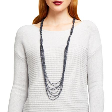 East Iridescent Beaded Necklace