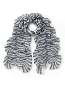 East Knitted Ruched Scarf