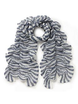 Knitted Ruched Scarf