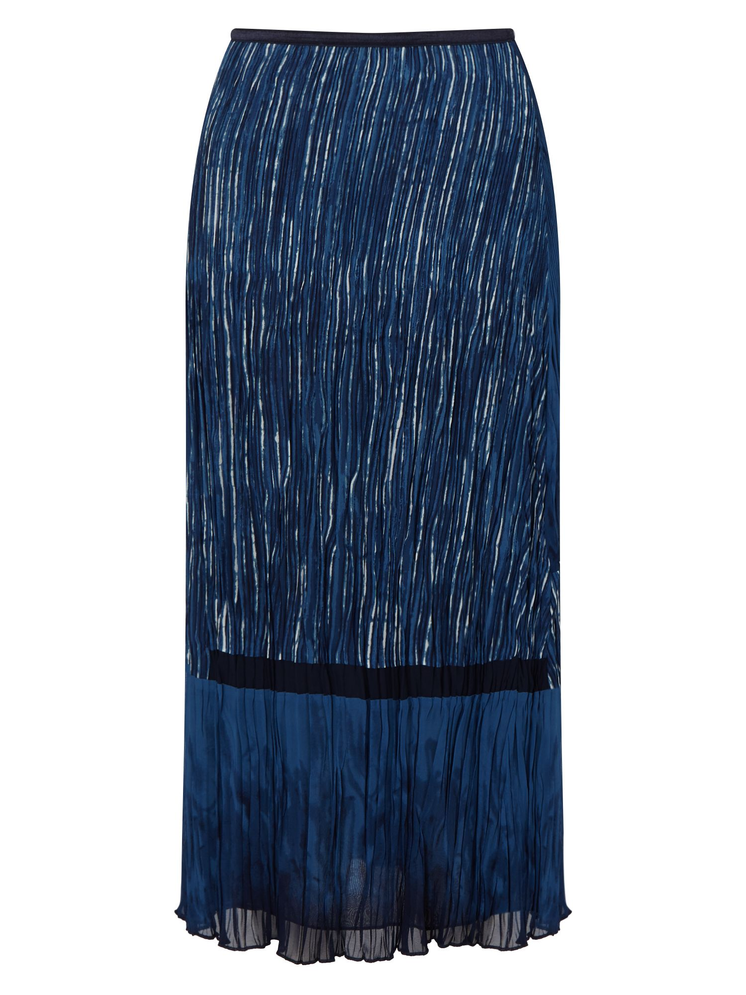 East Lucille Print Pleat Skirt, Blue