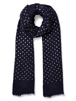 Wool Spotted Scarf