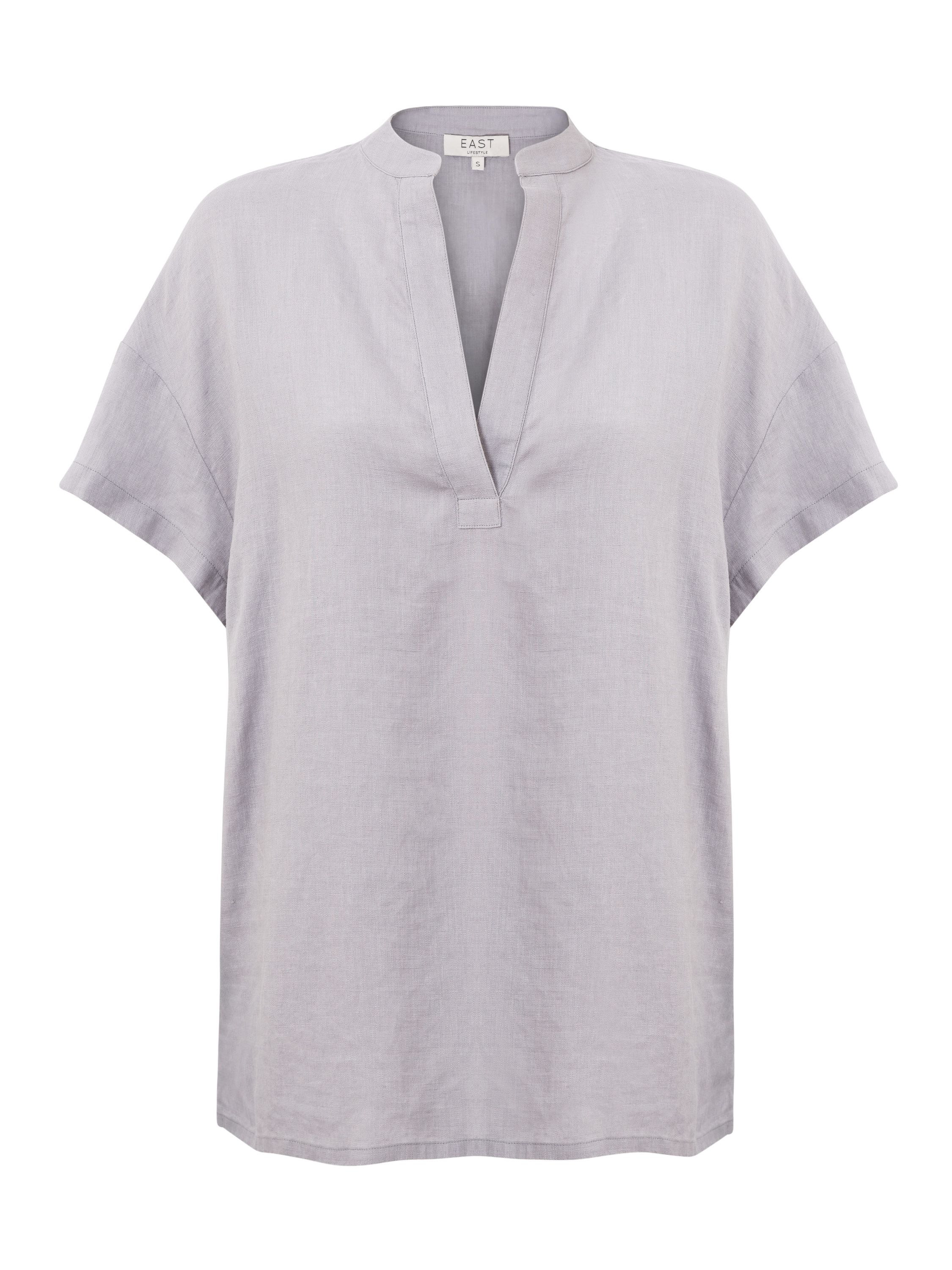 East Linen Marilyn Top, Grey
