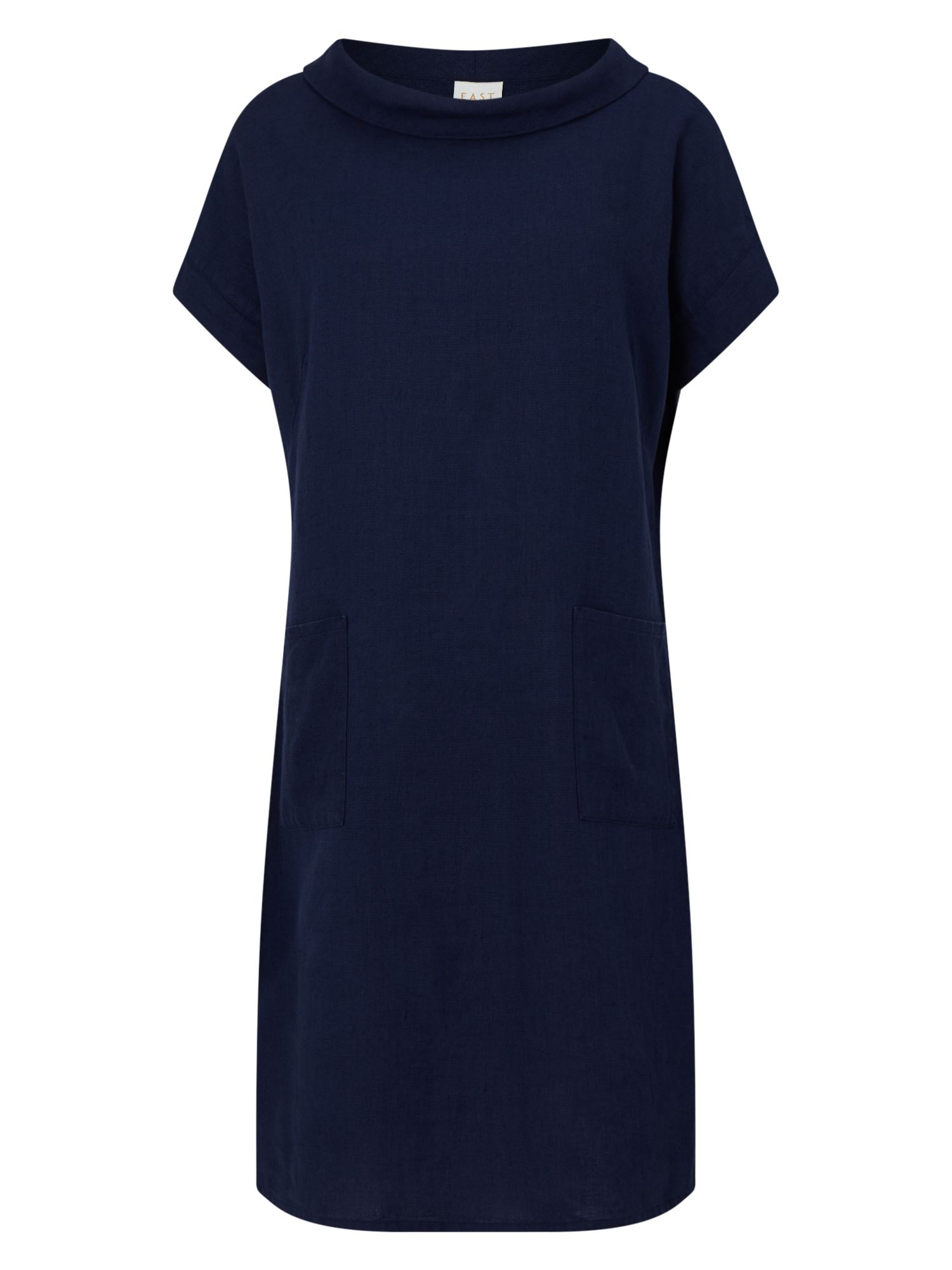 East Bardot Neck Dress, Blue