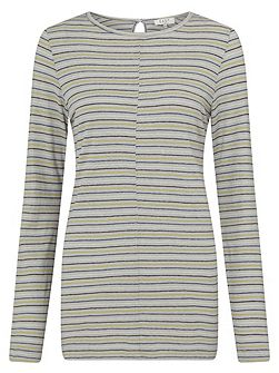 Stripe Boat Neck Top