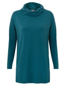 East Slouchy Cowl Neck Jersey