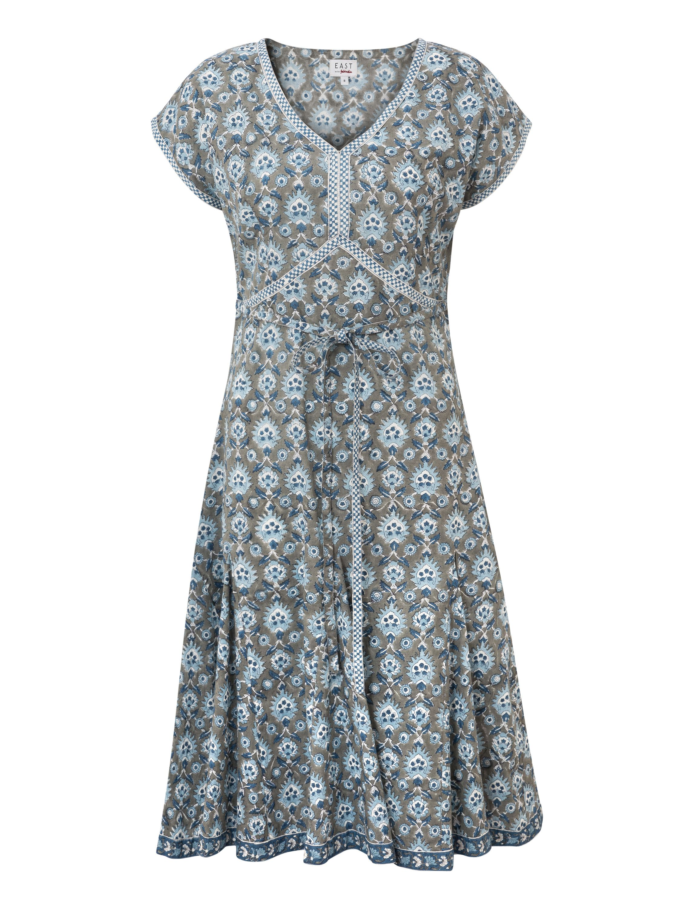 East Sureka Print Dress, Grey