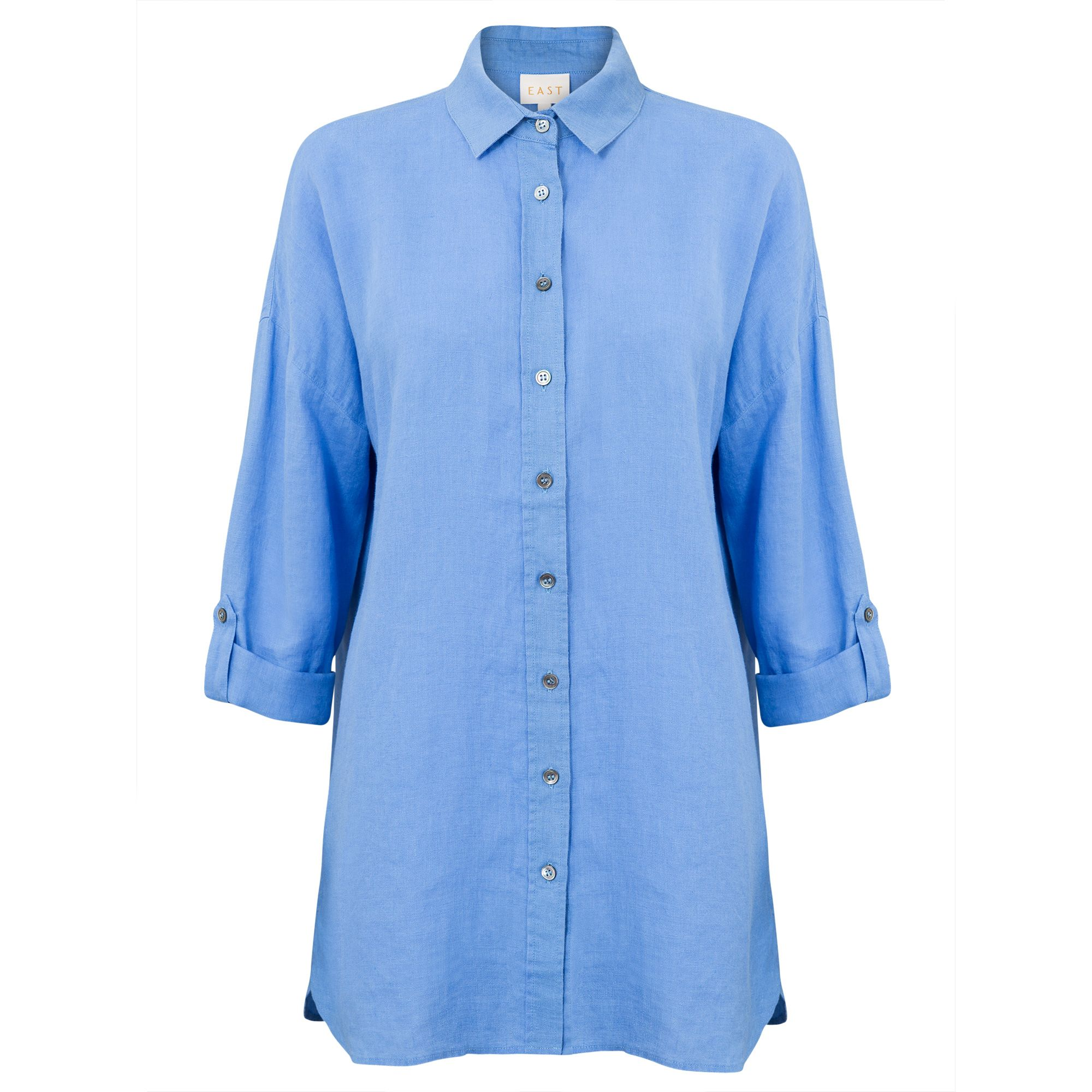 East Oversized Linen Shirt, Blue