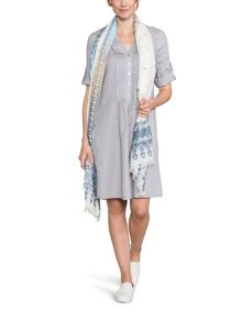 East Linen Pintuck Dress