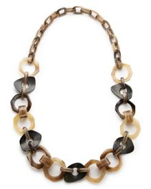 East Horn And Shell Chunky Necklace