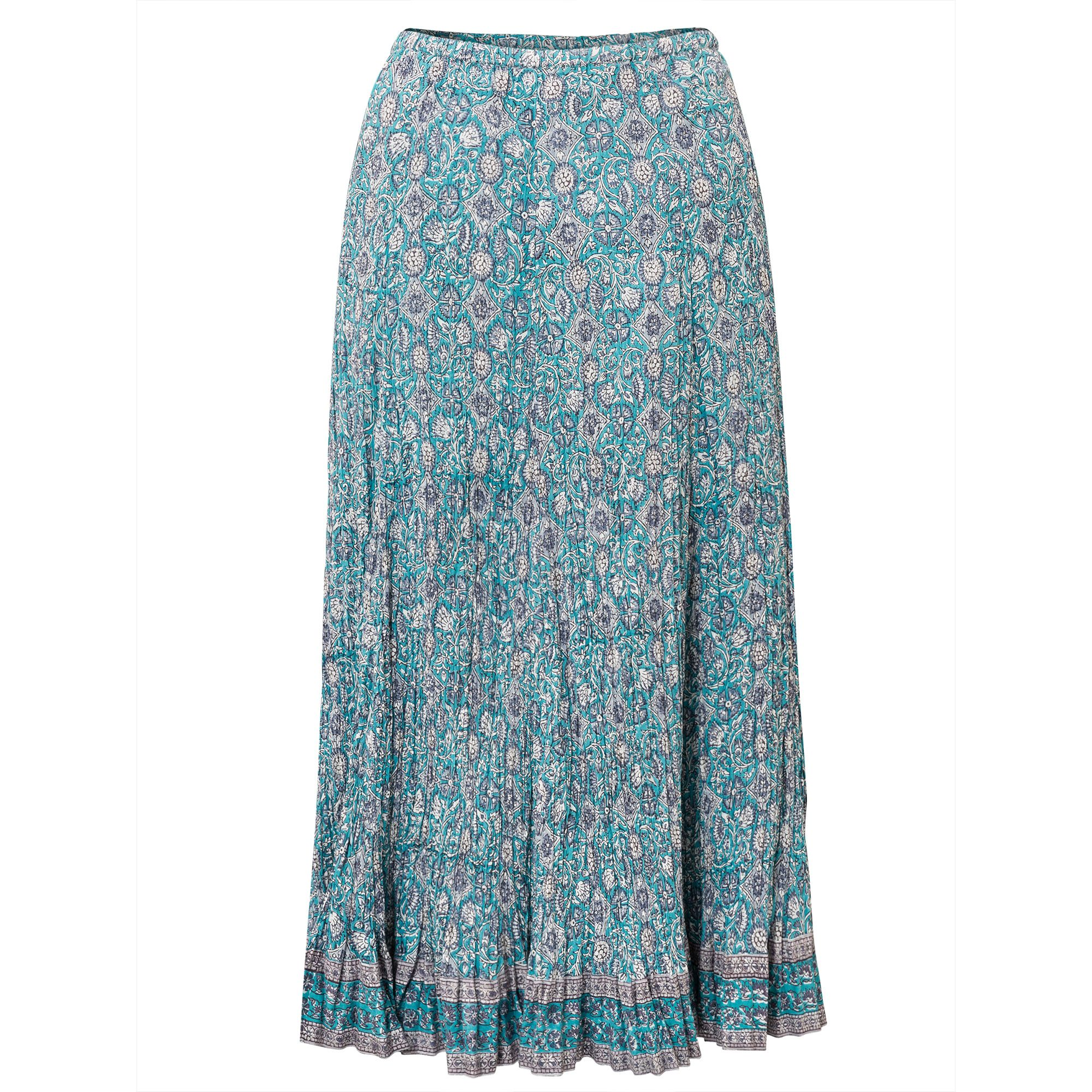 East Anokhi Yasmin Crinkle Skirt, Blue