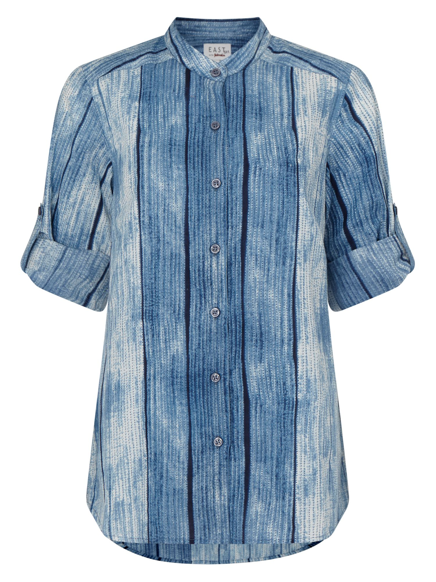 East Shibori Print Pocket Shirt, Indigo