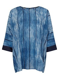 Shibori Print Button Top