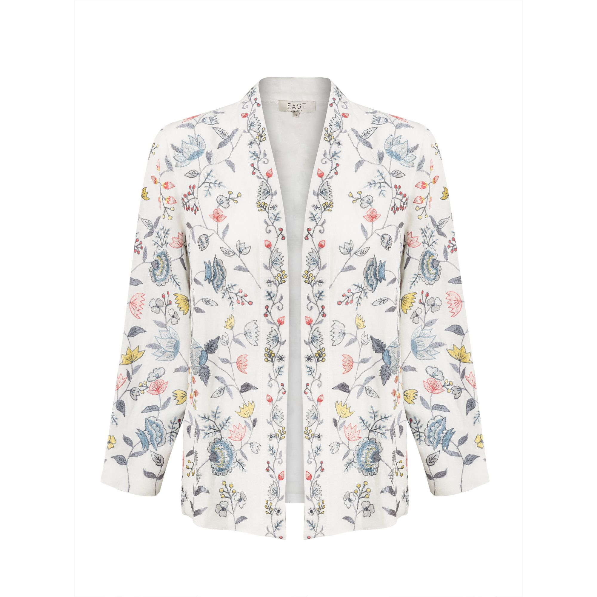 East Lavina Embroidered Jacket, White
