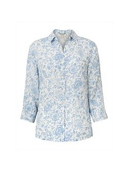 Antoinette Linen Fitted Shirt
