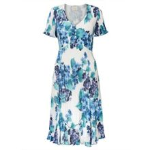 East Hydrangea Print Pleat Dress