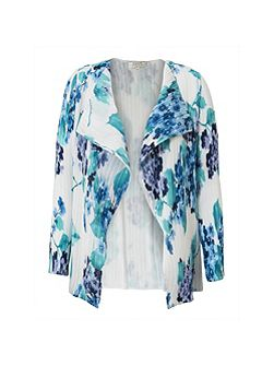 Hydrangea Print Pleat Jacket